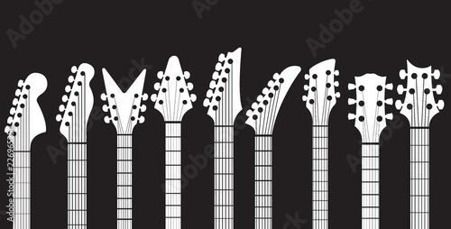 Fotografia Neck guitar headstock Vector set