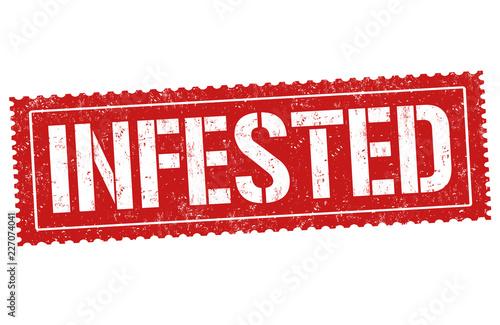 Infested sign or stamp Fototapeta