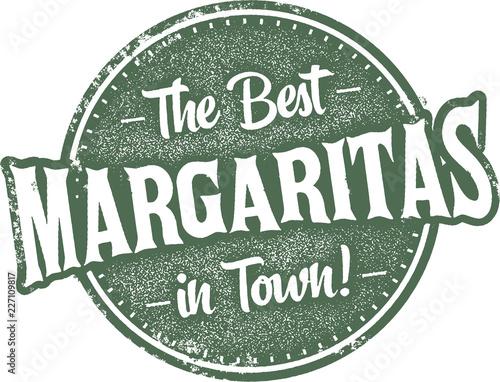 Fotomural Best Margaritas in Town Vintage Sign