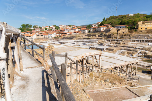 The salty valley of Añana, Spain