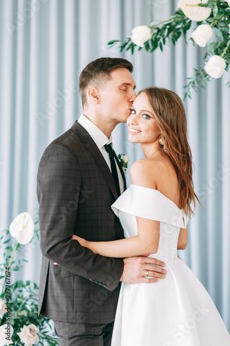 Canvas Print Stylish European wedding ceremony