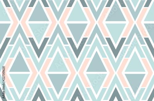 Fototapeta Geometric vector triangles seamless pattern