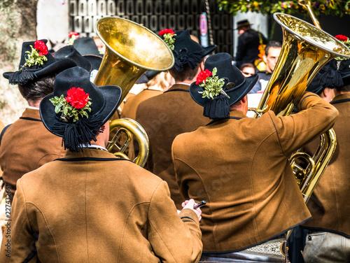 Fotografía part of a typical bavarian brass instrument
