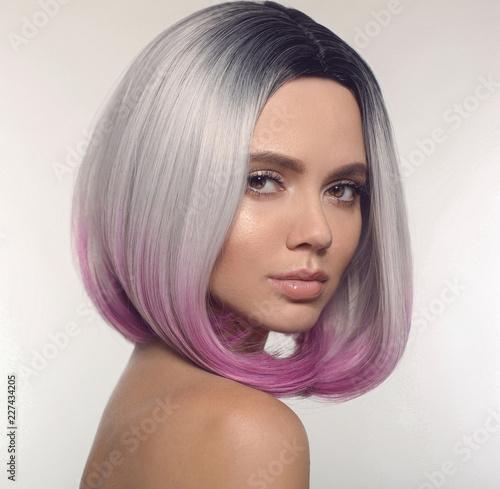 Fotografia Ombre bob short hairstyle