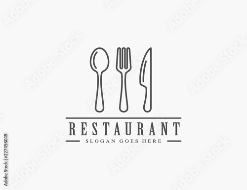 Fotografie, Obraz Restaurant logo template
