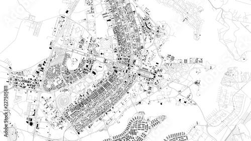 Obraz na płótnie Mappa satellitare di Brasilia, Brasile, strade della città