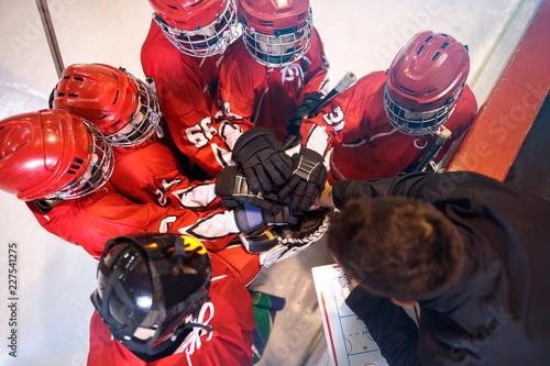 hockey team together strong teamwork spirit.