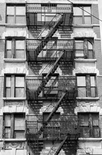 Obraz na płótnie Old fire escape, New York