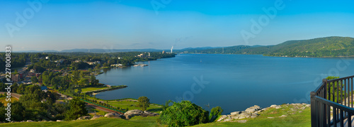 Obraz na plátně Hudson River panorama at Peekskill New York