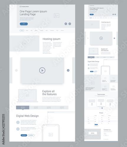 Fotografia, Obraz One page website design template for business