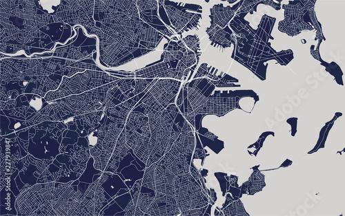 Fotografia map of the city of Boston, USA
