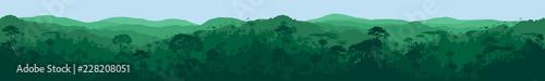 Photo vector horizontal seamless tropical rainforest Jungle background