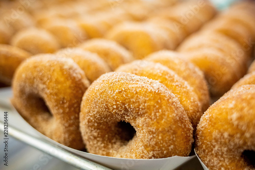 Wallpaper Mural Sweet cider donuts freshly baked and brown