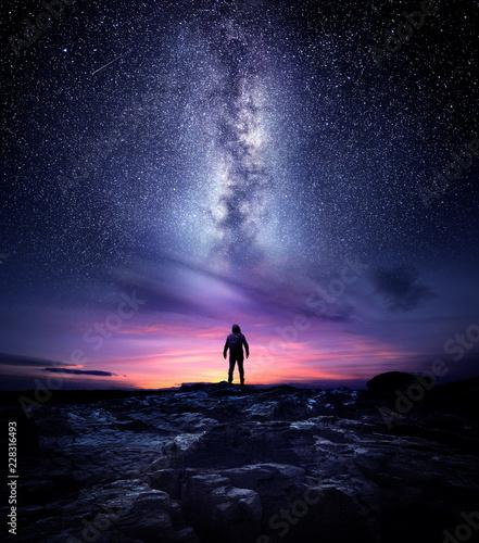 Fotografie, Obraz Night time long exposure landscape photography