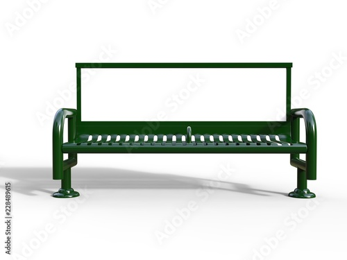 Fototapeta Blank bench billboard display for advertising