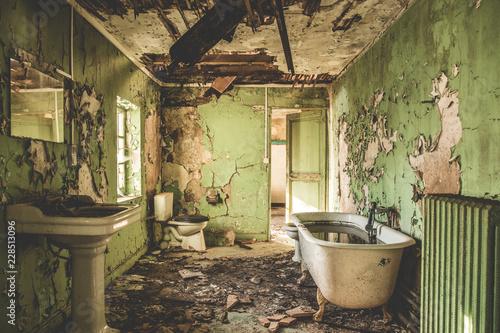 URBEX - Salle de bain délabré Fototapeta