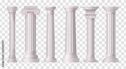 Canvas Antique White Columns Transparent Icon Set