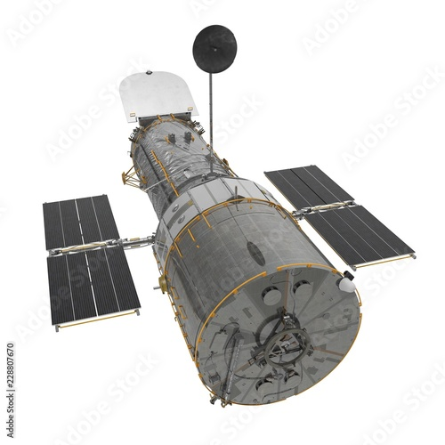 Hubble Space Telescope Isolated On White Backgrouns Fototapet