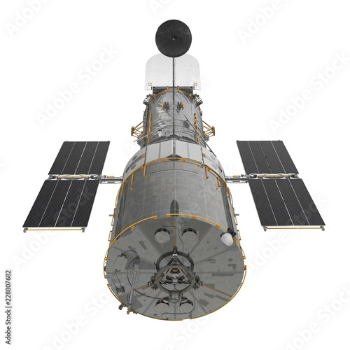 Fototapeta Hubble Space Telescope Isolated On White Backgrouns