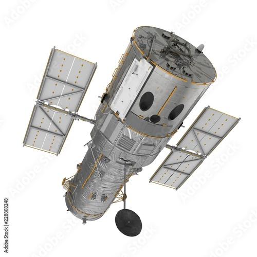 Obraz na plátne Hubble Space Telescope Isolated On White Backgrouns