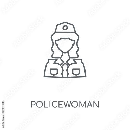 policewoman icon Fototapeta