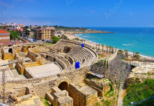 Tarragona römisches Amphitheater in Spanien - Tarragona the roman amphitheatre
