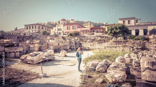 Valokuva Library of Hadrian, Athens, Greece