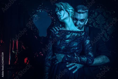 Canvas Print home of vampire couple