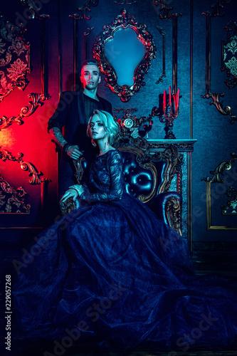Photo classic interior and vampires