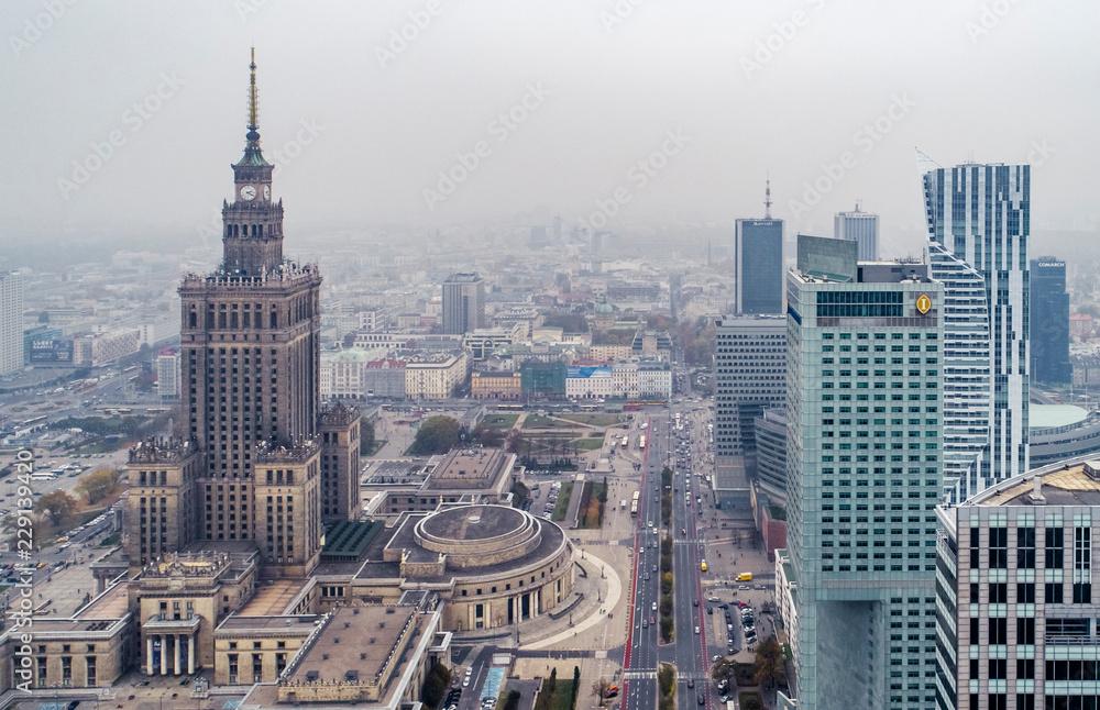 Warszawa <span>plik: #229139420 | autor: Drone in Warsaw</span>