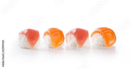 Sushi nigiri row