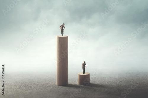 Fotografia gap inequality concept