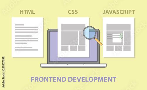 Fotografie, Obraz frontend website development compare comparison html css javascript