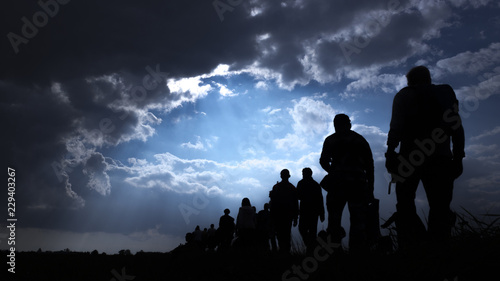 Valokuva Immigration of people