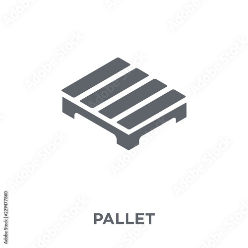 Carta da parati Pallet icon from Delivery and logistic collection.