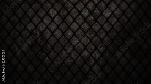 Fotografia, Obraz dark scale armor texture