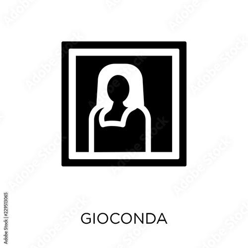 Fotografia gioconda icon isolated on white background