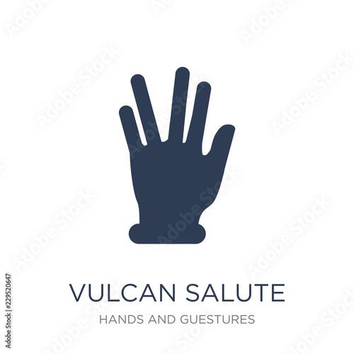 Obraz na płótnie Vulcan salute icon