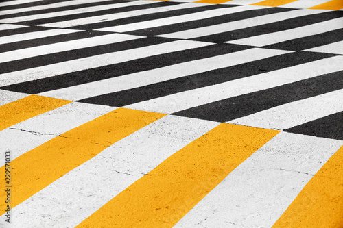 Leinwand Poster Pedestrian crossing road marking