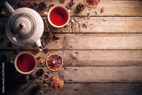 Fotografie, Obraz Teapot and cup of tea