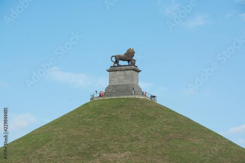 Obraz na płótnie The Lion of Waterloo - Lion's Hill in Waterloo - Belgium