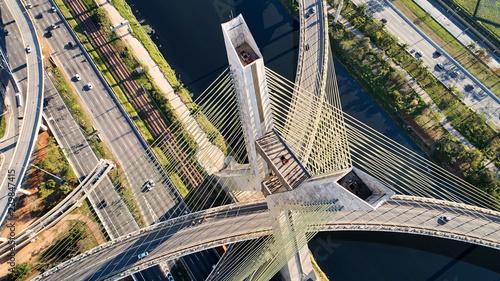 Estaiada Bridge Sao Paulo Brazil. Stayed bridge at Sao Paulo, Brazil.