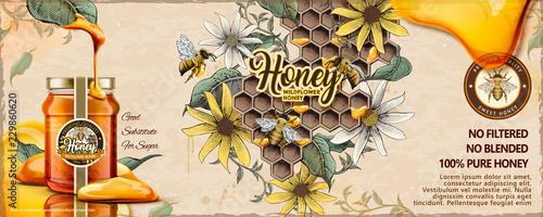 Fotografia Wild flower honey ads