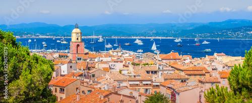 Fotografia Panoramic view of Saint Tropez, France