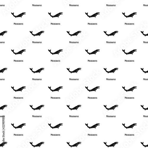 фотография Mosasaurus pattern seamless vector repeat geometric for any web design