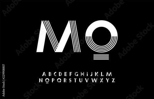 Fényképezés minimal modern alphabet
