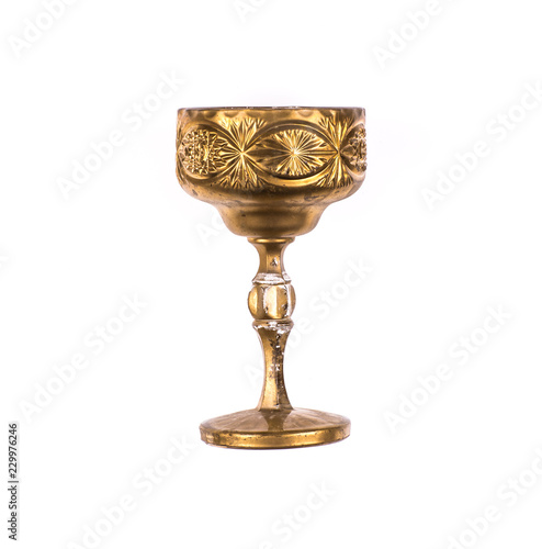 ancient gold cup for wine
