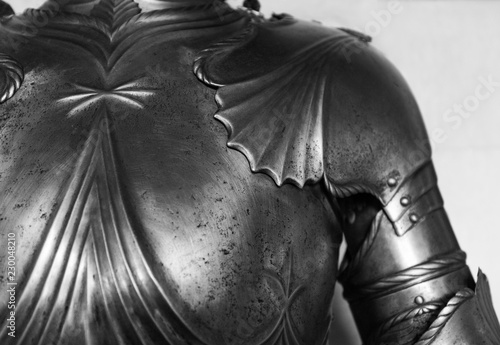 Detail of the upper part of an armor of medieval knight. Fototapete