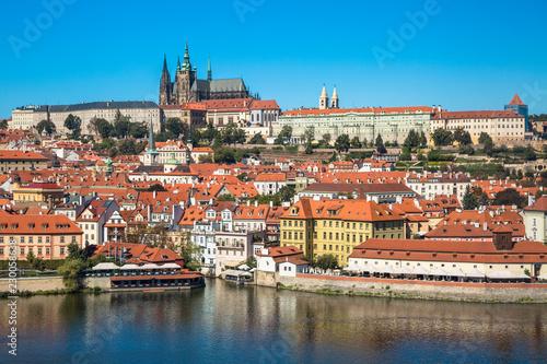Fotografia Old town of Prague and Prague castle, Czech Republic.