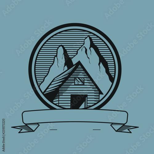 Fotografia a mountain hut illustration